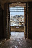 Europe,Italy,Basilicata, Matera, capital of Culture, World Heritage Site, unusual snow in Sassi