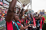 Kenya vs Japan during the HSBC Sevens Wold Series Shield Final match as part of the Cathay Pacific / HSBC Hong Kong Sevens at the Hong Kong Stadium on 29 March 2015 in Hong Kong, China. Photo by Manuel Bruque / Power Sport Images
