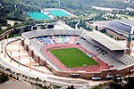 Aerial view of  Barcelona's L'Anella Olimpica