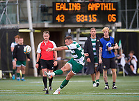 Steven Shingler of Ealing Trailfinders during the RFU Championship Cup match between Ealing Trailfinders and Ampthill RUFC at Castle Bar , West Ealing , England  on 28 September 2019. Photo by Alan  Stanford / PRiME Media Images