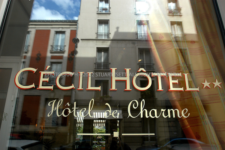9/19/2004--Paris, France.The Cecil Hotel at 47, Rue Beaunier in Paris's 14th district. Rooms start at ?62 for a single to ?78 for a double..Photograph by Stuart Isett.©2004 Stuart Isett
