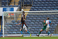 18th July 2020; Ewood Park, Blackburn, Lancashire, England; English Football League Championship Football, Blackburn Rovers versus Reading; Yakou Meite of Reading beats Blackburn Rovers goalkeeper Christian Walton with a header to level the score at 3-3 after 68 minutes
