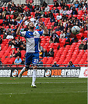 Andy Monkhouse of Bristol Rovers is frustrated after missing a chance during the 2015 Vanarama Conference Promotion Final match between Grimsby Town and Bristol Rovers at Wembley Stadium, London<br /> Picture by David Horn/eXtreme aperture photography +44 7545 970036<br /> 17/05/2015