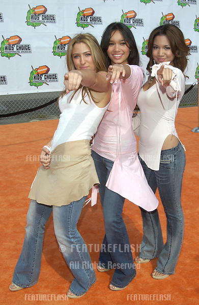 Pop group NO SECRETS at Nickelodeon's 16th Annual Kids' Choice Awards in Santa Monica..April 12, 2003.