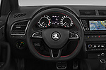 Car pictures of steering wheel view of a 2019 Skoda Fabia Monte Carlo 5 Door Hatchback
