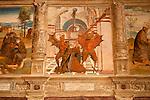 A 15th century fresco of Saint Anthony in the Santa Maria delle Grazie Church in Gravedona, a town on Lake Como Italy