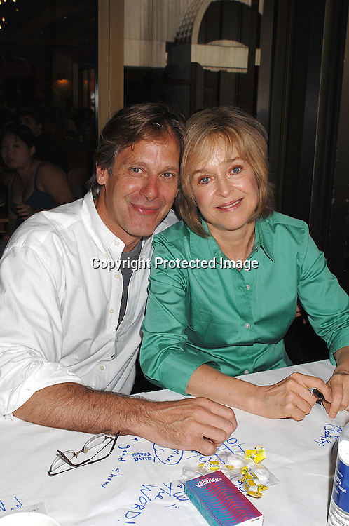 Scott Bryce and Jill Eikenberry..posing for photos at The 21st Annual Broadway Flea Market and Grand Auction benefitting Broadway Cares/..Equity Fights Aids on September 23, 2007 in Shubert Alley. ....Photo by Robin Platzer, Twin Images....212-935-0770