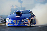Oct. 5, 2012; Mohnton, PA, USA: NHRA pro stock driver Kurt Johnson during qualifying for the Auto Plus Nationals at Maple Grove Raceway. Mandatory Credit: Mark J. Rebilas-