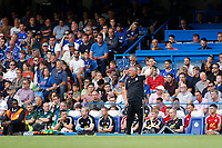 Sheffield United manager, Chris Wilder acknowledges fans during the Premier League match between Chelsea and Sheff United at Stamford Bridge, London, England on 31 August 2019. Photo by Carlton Myrie / PRiME Media Images.