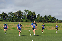 Bath Rugby players in action. Bath Rugby training session on August 4, 2015 at Farleigh House in Bath, England. Photo by: Patrick Khachfe / Onside Images