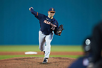 Illinois Fighting Illini relief pitcher Garrett Acton (26) in action against the Coastal Carolina Chanticleers at Springs Brooks Stadium on February 22, 2020 in Conway, South Carolina. The Fighting Illini defeated the Chanticleers 5-2. (Brian Westerholt/Four Seam Images)