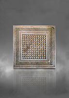 Roman mosaics -  The Bath House. The House of Oceanos, Ancient Zeugama. 3rd Century AD. Zeugma Mosaic Museum, Gaziantep, Turkey.  Against a grey background.