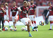 9th September 2017, Emirates Stadium, London, England; EPL Premier League Football, Arsenal versus Bournemouth; Mesut Ozil of Arsenal during shooting practice before kick off
