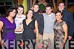 Pictured at the Lane Bar, Killarney on New Year's Eve were l-r: Claire O'Donovan, Ronan Dennehy, Sarah Kennedy, Oran Clifford, Stephen Donnelly, Linda Cummings and Sean Morris (Waterville).