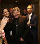Eleni Gianulis, Stephen Schwartz and Justin Paul attends the After Party for the Dramatists Guild Foundation toast to Stephen Schwartz with a 70th Birthday Celebration Concert at The Hudson Theatre on April 23, 2018 in New York City.