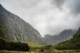 NEW ZEALAND, Fiordland National Park, Waterfalls in Fiordland National Park, Ben M Thomas