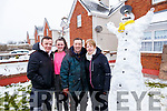 Eddie Horgan, Sarah Curtin, Eddie and Mary Horgan enjoying the snow in Convent View, Listowel on Friday.