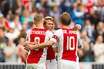 Nederland, Amsterdam, 21 juli 2012.Seizoen 2012/2013.Ajax-Celtic .Kolbeinn Sigthorsson van Ajax scoort de 2-0. V.l.n.r.: Kolbeinn Sigthorsson, Viktor Fischer en Siem de Jong van Ajax
