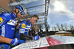 Zdenek Štybar (CZE) Deceuninck-Quick Step at sign on in Fortezza Medicea before the start of Strade Bianche 2019 running 184km from Siena to Siena, held over the white gravel roads of Tuscany, Italy. 9th March 2019.<br /> Picture: LaPresse/Gian Matteo D'Alberto | Cyclefile<br /> <br /> <br /> All photos usage must carry mandatory copyright credit (© Cyclefile | LaPresse/Gian Matteo D'Alberto)