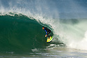French Jeremy Flores, ranked number 9, at a free surfing session in Hossegor in the south of France.