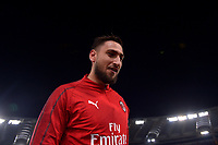Antonio Donnarumma of AC Milan warms up ahead the Serie A 2018/2019 football match between AS Roma and AC Milan at stadio Olimpico, Roma, February 3, 2019 <br />  Foto Andrea Staccioli / Insidefoto