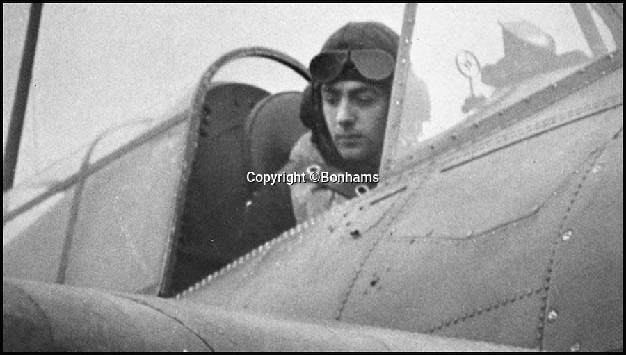 BNPS.co.uk (01202 558833)<br /> Pic: Bonhams/BNPS<br /> <br /> Eric 'Winkle' Brown.<br /> <br /> The historic medals and logbooks of legendary test pilot Eric 'Winkle' Brown have been saved for the nation and will be displayed in a British museum.<br /> <br /> A deal has been secured for the hero's prestigious decorations and all his flying journals after they failed to sell at auction earlier this week.<br /> <br /> They had been expected to sell for &pound;200,000, possibly to an overseas buyer, but bidding only reached &pound;140,000, falling short of the reserve price.<br /> <br /> Now it has emerged that the National Museum of the Royal Navy has negotiated a deal with Captain Brown's family to buy his stunning archive.