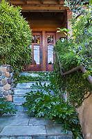 Entry stone slate stairs to Diana Magor home garden