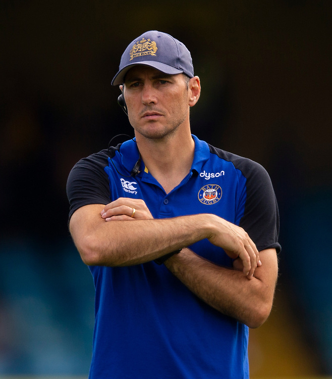Bath Rugby's Attack/Backs coach Girvan Dempsey<br /> <br /> <br /> Photographer Bob Bradford/CameraSport<br /> <br /> Premiership Rugby Cup Round Three - Bath Rugby v Leicester Tigers - Saturday 5th October 2019 - The Recreation Ground - Bath<br /> <br /> World Copyright © 2018 CameraSport. All rights reserved. 43 Linden Ave. Countesthorpe. Leicester. England. LE8 5PG - Tel: +44 (0) 116 277 4147 - admin@camerasport.com - www.camerasport.com