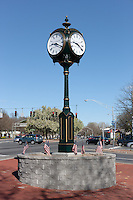 This pedestal clock is dedicated to the Veterans of Westchester County, New York.  The clock, donated by Wilson and Son Jewelers, stands near the County Center on Tarrytown Road in White Plains, New York