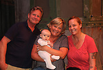 After the show on Sept. 26, 2018 grandparents AC Weary and Kim Zimmer pose with their daughter Rachel and her son Vincent Allen Wychules - Guiding Light and OLTL's Kim Zimmer stars in The Shuck  at the Cape May Stage in Cape May, New Jersey. (Photo by Sue Coflin/Max Photo)
