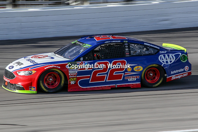 Monster Energy NASCAR Cup Series driver Joey Logano (22) in action during the Monster Energy NASCAR Cup Series, AAA Texas 500, race at the Texas Motor Speedway in Fort Worth,Texas.