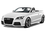Front three quarter view of a 2010 - 2014 Audi TT RS Convertible.