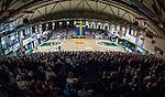 S&ouml;dert&auml;lje 2014-04-15 Basket SM-Semifinal 5 S&ouml;dert&auml;lje Kings - Uppsala Basket :  <br /> Vy &ouml;ver T&auml;ljehallen fr&aring;n l&auml;ktaren under matchen<br /> (Foto: Kenta J&ouml;nsson) Nyckelord:  S&ouml;dert&auml;lje Kings SBBK Uppsala Basket SM Semifinal Semi T&auml;ljehallen inomhus interi&ouml;r interior supporter fans publik supporters