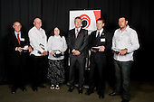 Service to Sport  recipients, Alan Chester, Tony Takura, Sue Breen, Paul McPhail & Kevin Duffin with Manukau City Councilor John Walker. . Counties Manukau Sport 17th annual Sporting Excellence Awards held at the Telstra Clear Pacific Events Centre, Manukau City, on November 27th 2008.