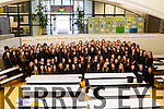 200 female students at Mercy Mounthawk, who are part of Tralee's Justice and Peace Group dressed in black on Wednesday to represent the 200 Nigerian girls who were abducted.