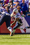 12 October 2014: New England Patriots running back Shane Vereen in action against the Buffalo Bills at Ralph Wilson Stadium in Orchard Park, NY. The Patriots defeated the Bills 37-22 to move into first place in the AFC Eastern Division. Mandatory Credit: Ed Wolfstein Photo *** RAW (NEF) Image File Available ***