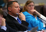 Nevada Assemblyman Mike Sprinkle, D-Sparks, works in committee at the Legislative Building in Carson City, Nev., on Wednesday, Feb. 18, 2015. <br /> Photo by Cathleen Allison