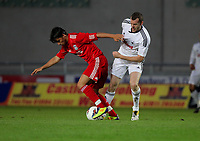Pictured: Craig Beattie. Wednesday 31 August 2011<br /> Re: Swansea City FC v Liverpool reserves at Parc Y Scarlets, Llanelli, Carmarthenshire.