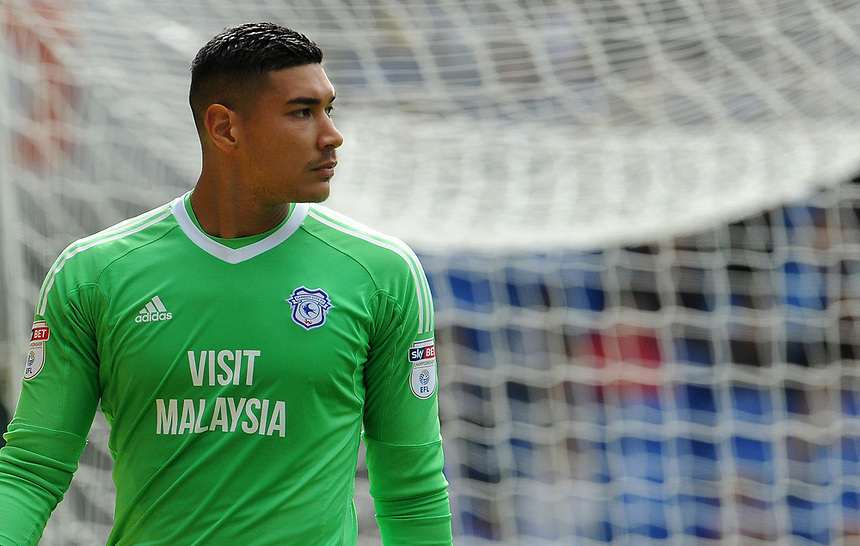 Cardiff City's Neil Etheridge <br /> <br /> Photographer Ian Cook/CameraSport<br /> <br /> The EFL Sky Bet Championship - Cardiff City v Aston Villa - Saturday August 12th 2017 - Cardiff City Stadium - Cardiff<br /> <br /> World Copyright &copy; 2017 CameraSport. All rights reserved. 43 Linden Ave. Countesthorpe. Leicester. England. LE8 5PG - Tel: +44 (0) 116 277 4147 - admin@camerasport.com - www.camerasport.com