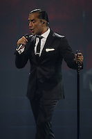El cantante mexicano Alejandro Fernadez , durante su concierto en el MGM de las Vegas Nevada. 14 septiembre 2014.<br />
