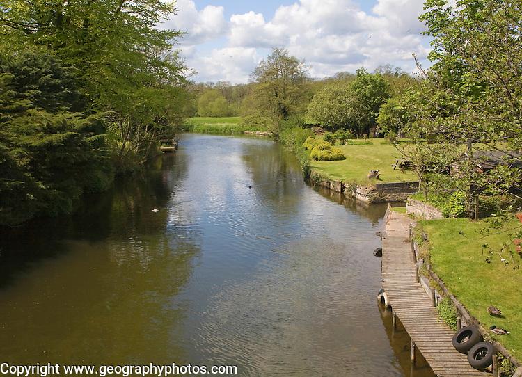 Little Ouse river at Brandon, Suffolk, England