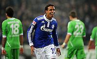 FUSSBALL   1. BUNDESLIGA   SAISON 2011/2012   22. SPIELTAG FC Schalke 04 - VfL Wolfsburg         19.02.2012 Joel Matip (FC Schalke 04) jubelt nach dem Tor zum 1:0