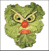 "BNPS.co.uk (01202 558833).Pic: DanielRicon/BNPS..***Please Use Full Byline***..Green man...Leonardo Da Veggie!..An artist has transformed humble salad ingredients into works of art in a bid to encourage children to eat their greens...Daniel Ricon bought bags of lettuce, tomatoes, carrot, and cucumber and began layering them on a plate to make the healthy snacks seem more exciting...He created impressive pictures of animals including a cucumber crocodile, and a runner bean lion...Daniel also made a cat, duck, crab, owl, lion, rabbit, penguin, fish, cock, and even a martian...After completing each plate he took a picture and posted it to his website to document his wacky artwork...Daniel, 60, a visual artist from Paris in France, said: ""I have used flowers, leaves, stones, shells, hands, sweets and cakes in my work and it resulted in me working with vegetables...""Working with vegetables is to present a fun way to eat food to children and invite them to try unusual things...""The goal is to make a dish salad to encourage children to eat everything, the subjects are placed on a plate to be eaten......"