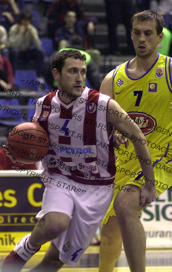 SPORT KOSARKA CRVENA ZVEZDA MAKABI Goran Jeretin 25.2.2004. foto: Pedja Milosavljevic<br />