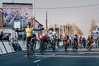 Dylan Groenewegen (NED/LottoNL-Jumbo) wins the  70th Kuurne-Brussel-Kuurne (2018)<br /> <br /> Kuurne &rsaquo; Kuurne: 200km (BELGIUM)