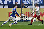 16.03.2019, VELTINS-Arena, Gelsenkirchen, GER, DFL, 1. BL, FC Schalke 04 vs RB Leipzig, DFL regulations prohibit any use of photographs as image sequences and/or quasi-video<br /> <br /> im Bild Torchance von Sebastian Rudy (#13, FC Schalke 04) vor Marcel Sabitzer (#7, RB Leipzig) <br /> <br /> Foto © nph/Mauelshagen