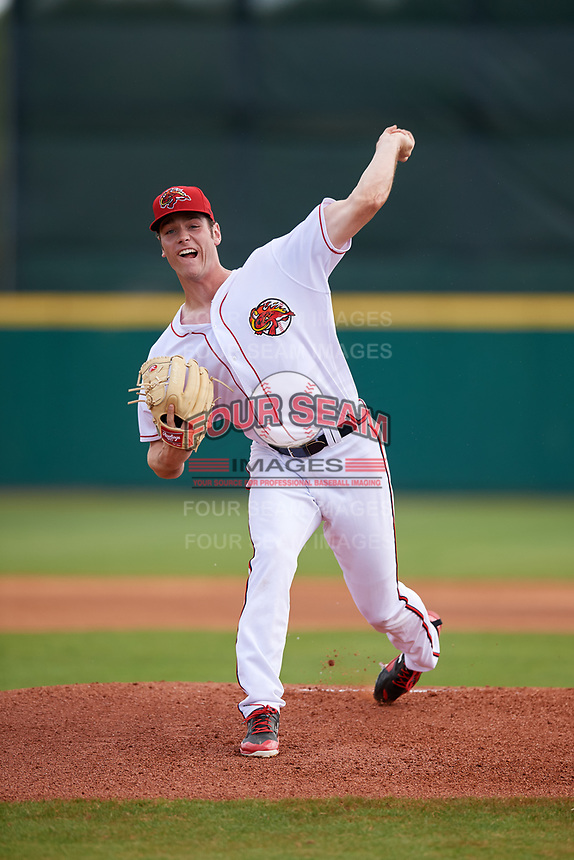 Florida Fire Frogs starting pitcher Joey Wentz (26) delivers a pitch during a game against the Daytona Tortugas on April 8, 2018 at Osceola County Stadium in Kissimmee, Florida.  Daytona defeated Florida 2-1.  (Mike Janes/Four Seam Images)
