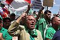 """Supporters of Lega Nord (North League party) at Pontida meeting, Sunday, June 19, 2011. A placard read """"Maroni Prime Minister now"""". © Carlo Cerchioli..Militanti della Lega Nord al raduno di Pontida, 19 giugno 2011."""
