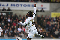 Pictured: Jason Scotland of Swansea City in action<br /> Re: Coca Cola Championship, Swansea City Football Club v Watford at the Liberty Stadium, Swansea, south Wales 09 November 2008.<br /> Picture by Dimitrios Legakis Photography (Athena Picture Agency), Swansea, 07815441513