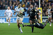 2nd December 2017, Rioch Arena, Coventry, England; Aviva Premiership rugby, Wasps versus Leicester; Jonah Holmes of Leicester Tigers makes a break and runs 60 metres to score a try